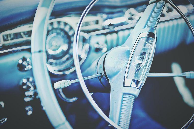 Old school cars make great models... Vintage Retro Auto Car Blue Portlandinternationalraceway Car Show Steering Wheel Blue Interior