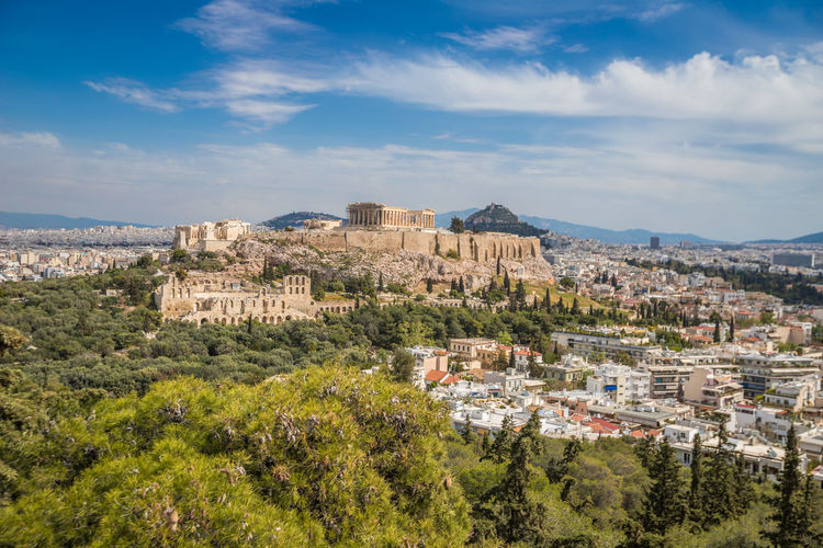 Nice view of Acropilis in Athens Athens Athens, Greece Athens City Athens Greece Acropolis Acropolis, Athens Acropolis View Parthenon Parthenon Acropolis Greece Parthenon Greece Architecture Building Exterior Built Structure Sky Plant Tree Building Cloud - Sky Nature City Residential District Day No People History Cityscape The Past Environment Mountain Outdoors Scenics - Nature TOWNSCAPE Ancient Civilization