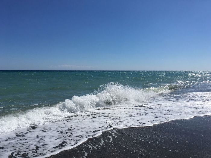 Daylight Sun Calabria Summer Travel Italy Sea Water Horizon Over Water Sky Horizon Beach Scenics - Nature Clear Sky Beauty In Nature Land Wave Motion Blue Splashing Outdoors Nature