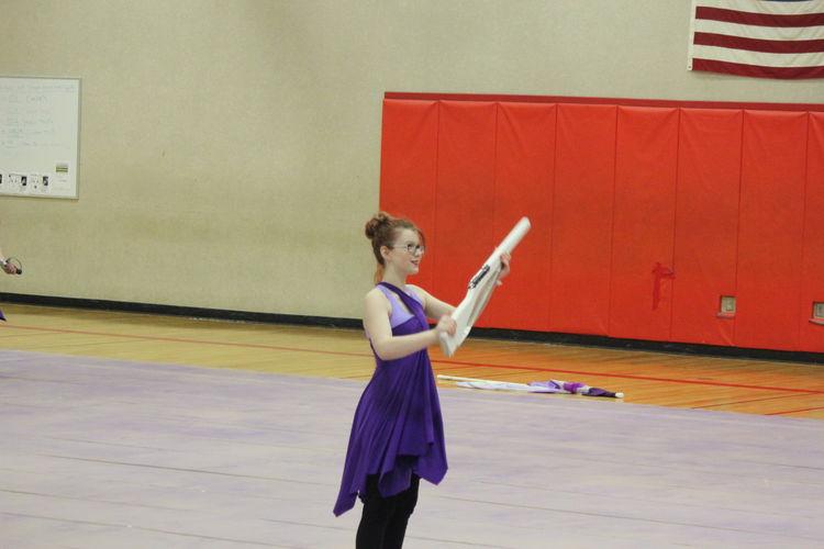 Ballet Ballet Dancer Color Guard Colorguard Full Length Lifestyles Rifle Skill  Sport Winter Guard WinterGuard