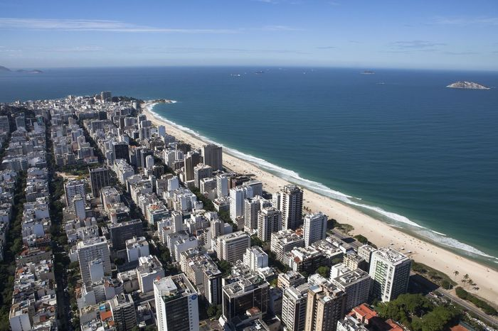 Barra Da Tijuca, Rio De Janeiro Brazil City Rio De Janeiro Architecture Beach Beauty In Nature Blue Blue Sky Building Exterior Built Structure Day Horizon Over Water Nature No People Outdoors Scenics Sea Sky Urban Skyline Water