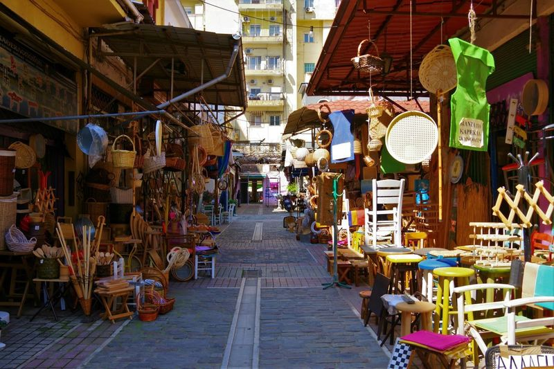 Artisan Arts And Crafts GREECE ♥♥ Shopping Thessaloniki Travel Photography Architecture Athonos Square Basket Greece Hanging Large Group Of Objects Market Market Stall Reed Reed Basket Reed Objects Retail Display Street Street Market Street Photography Streetphotography Thessaloniki Greece Variation Wooden