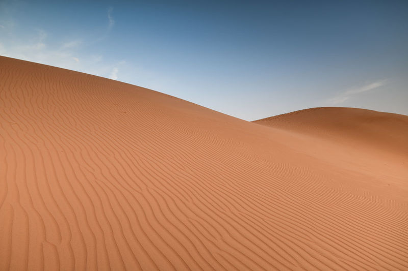 Low angle view of desert