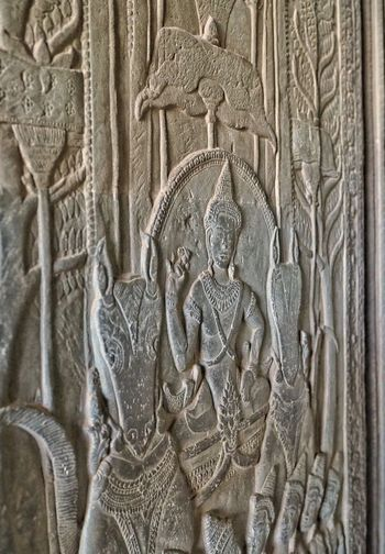 Carving at Angkor Wat, Cambodia Angkor Wat Cambodia History Bas Relief Carving - Craft Product Human Representation Religion Ancient Old Ruin Archaeology Travel Destinations Ancient Civilization Architecture Sculpture Place Of Worship