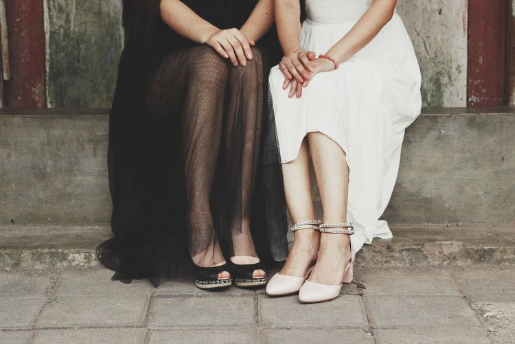 Two ladies Lady Ladies Women Two People Two Women Shoes Dress Photography Portrait Togetherness Human Leg Love Care Low Section