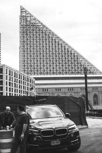 Pyramid Under Construction Bmw Black Car New Buildings NYC Glassglass