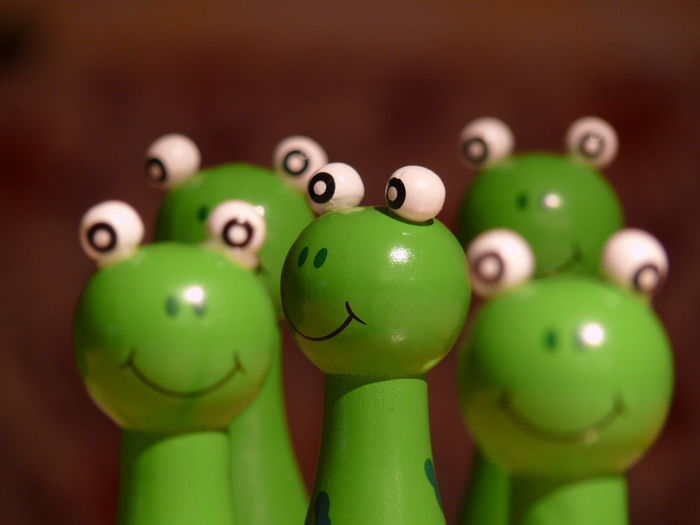 Multifrog 2 Blur Background Brown Background Close-up Dark Background Eyes Frog Frog Eyes Frog Toy Frogs Green Color No People Smile Smile Forg Toys