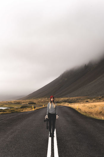 Woman On Empty Road
