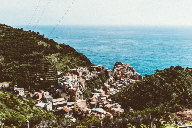 Ocian Building City Landscape Italy Italy❤️ Mountain Range Mountains Sea And Sky Vernaza