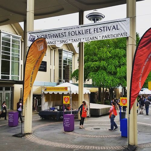 """Folklife Festival...aka, the time of year when the beautiful Seattle Center park gets trampled and ballet rehearsals are also accompanied by the sounds of bagpipes, drumming, """"singing,"""" and the scents of marijuana and extreme body odor. Not my favorite event. Grumpy Folklife"""