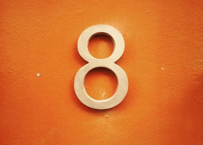 Eight Wall Orange Mobilephotography Number