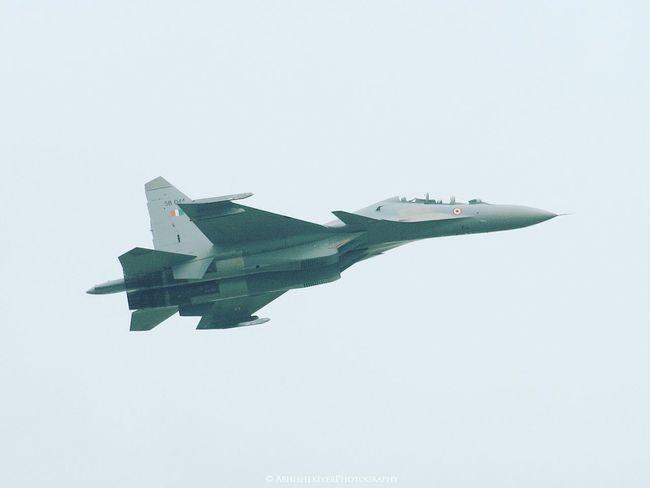 EyeEm Selects Airplane Studio Shot No People Sky White Background Flying Airshow Day Outdoors Abhishekiyerphotography Sukhoi Russian Aircraft