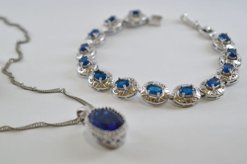Close-Up Of Jewelries On Table