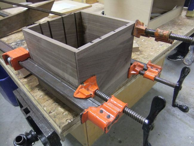 Woodworking Walnut Wood Clamps Jewellery Box Orange A New Beginning Precision Taking Pictures Handmade Crafts will be a treasure for somebody someday.