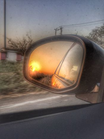 Sunshine ☀️ tTransportationcCarlLand VehiclerReflectionrRoadsSide-view MirrormMode Of TransportvVehicle MirrorjJourneysSunsetnNo PeoplesSkycClose-updDaynNatureoOutdoors