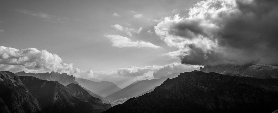 Cloud - Sky Nature Sky Outdoors Hiking Blackandwhite Black & White Black And White Black&white Dolomites, Italy Dolomites Pizboe First Eyeem Photo