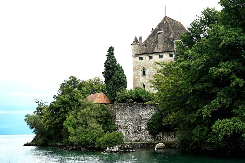 Water Architecture Castle Tree Built Structure History Building Exterior No People Nature Sky Travel Destinations Outdoors EyeEm Best Shots - Landscape Landscape_photography Landscape_Collection Yvoire, France Yvoire Landscape Historic Historical Building Genfersee Lac Léman