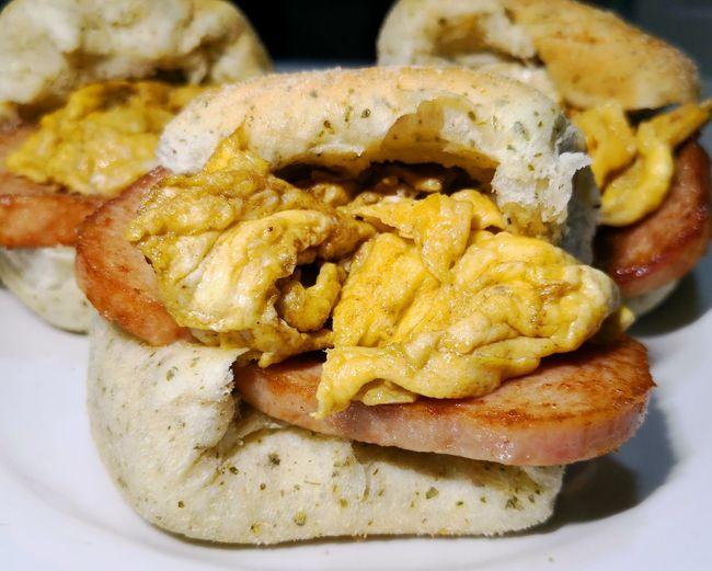 Spam egg bread