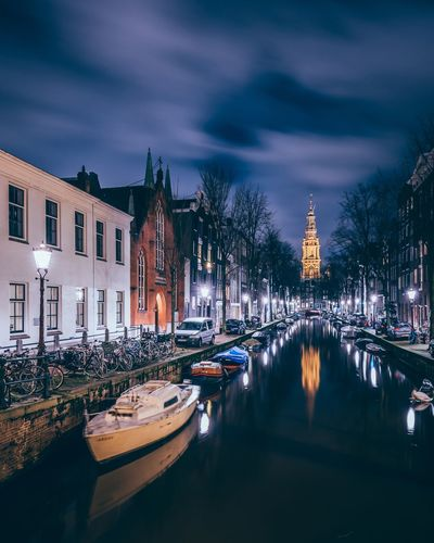 Dam nights Cityscape Travel Water Holland Netherlands Amsterdam Architecture Water Sky Building Exterior Built Structure Canal Nautical Vessel Cloud - Sky Transportation Illuminated Mode Of Transport Travel Destinations No People Night Tree Outdoors City Moored Nature