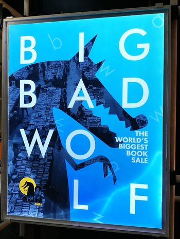 The much awaited wolf is back! 🐺 BigBadWolf Signage Ad Sign Advertising No People Blue Communication Business Finance And Industry Text No People Day Close-up