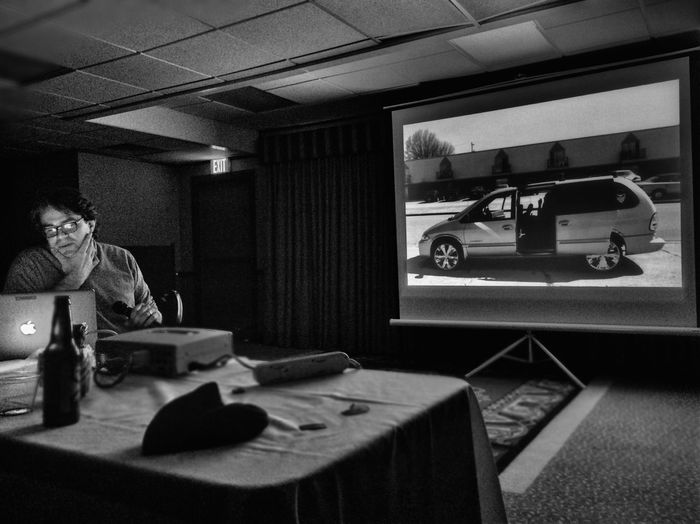 Dave talking photo stories at Mppa2015 Photojournalism Michigan Press Photographers Association