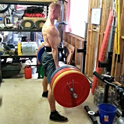 Deadlifting today, less than two weeks until my novice Powerlifting comp. Hoped to get 150kg for a double but couldn't get the second rep past my sticking point. Hoping to pull around 155-160 on the day Powerlifting Strongman Crossfit Crossfitaustralia Power Strength Fitness Deadlift Unbroken Comp