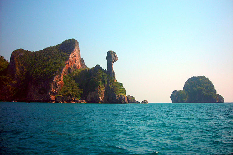 View mountain in sea thailand Sea Mountain Imagination Shape Background Beautiful Nature Outdoor Travel Tourism Thailand