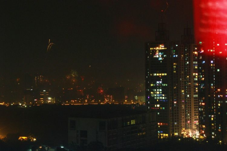 The Changing City Mumbai Skyscrapers City Under Construction Happy Diwali Fireworks