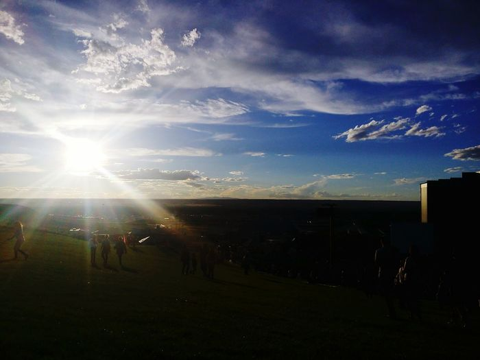 No picture will ever make justice to the majesty of a sunset ❤🌞 Sun Sky Landscape Sunlight Beauty In Nature Nature Sunset Hondacivictour2016