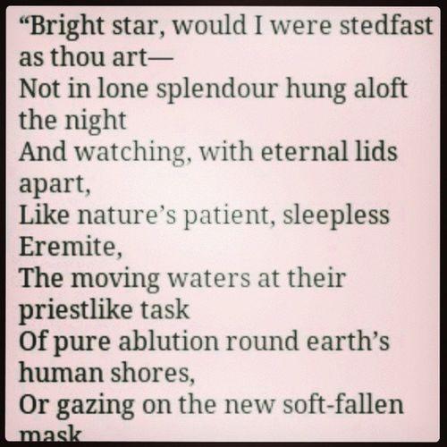 Just love. Brightstar JohnKeats Keats