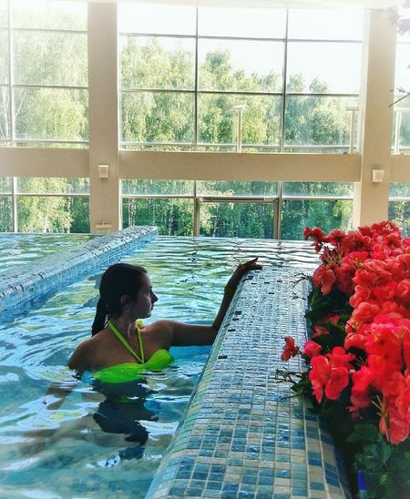 Swimming Pool Water Only Women One Woman Only Flower Adult Adults Only One Person Swimming People Wet Women Day One Young Woman Only Beautiful Woman Health Spa Nature Young Adult Indoors  Luxury Hotel Moscow Moscow City Model EyeEm Selects Celebrities