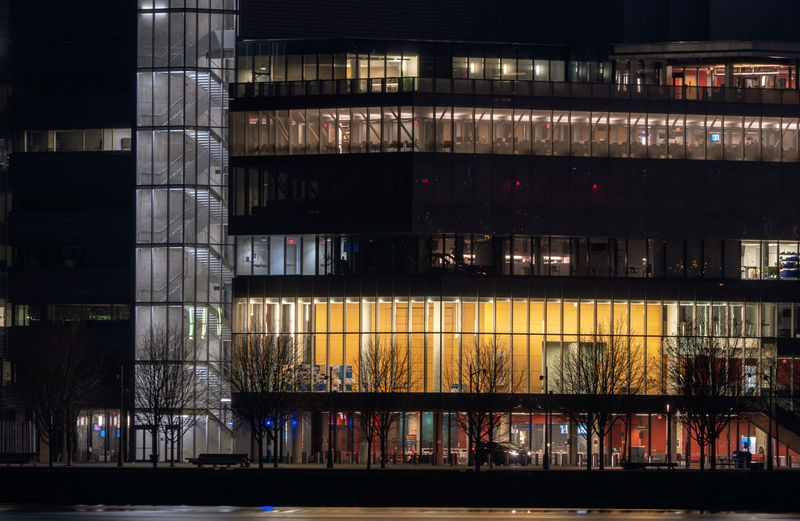Office building at night, Toronto Architecture Night Illuminated Built Structure Building Exterior No People City Modern Building Business Nightlife Office Toronto Waterfront Water Tree Glass Stairs Workspace Office Building Urban Skyline Cityscape