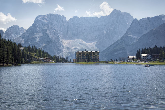 Lago Di Misurina Beauty In Nature Day Lake Misurina Lake Mountain Mountain Range Nature No People Outdoors Range Scenics Sky Snow Tranquil Scene Tranquility Tree Water Waterfront Winter
