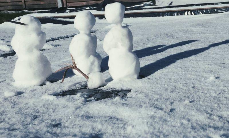 Winter Snow Snowman Frost Frozen Children Family Nature Schnee Schneemann Wintertime