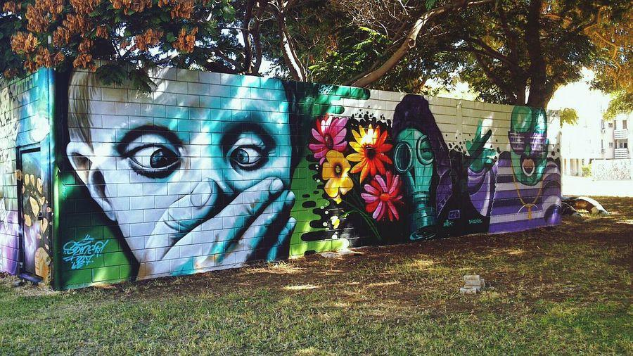 Street Art Enjoying Life Graffiti Wall Art