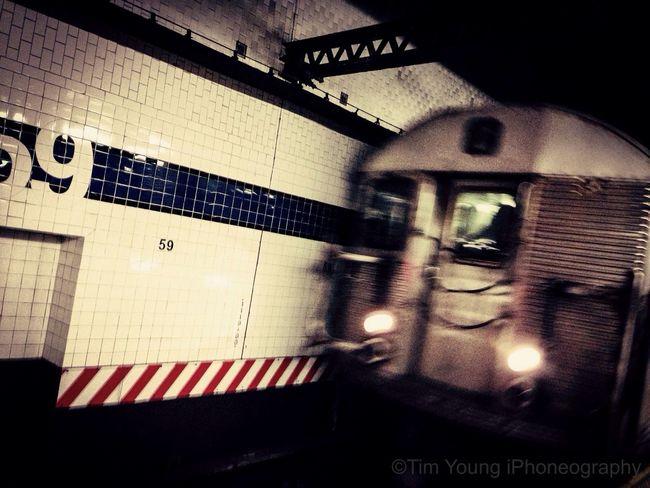 C Train Subway Friday Commute