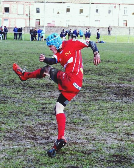 Rugby union South Wales Rhondda Action Shot  Canon Rugby Kickin It Kicker