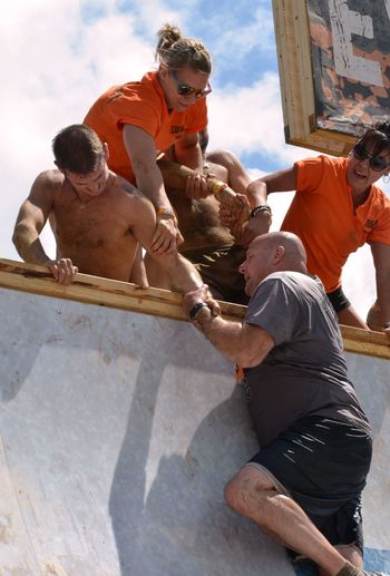 Composition Group Of People Real People Togetherness Tough Mudder Young Men