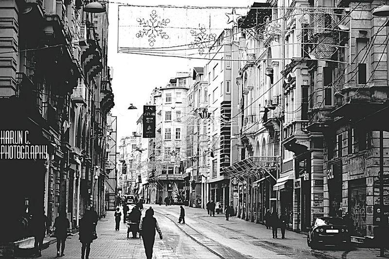 Istanbul Turkey Istiklal Caddesi Black And White Monokrom Nikon D3200