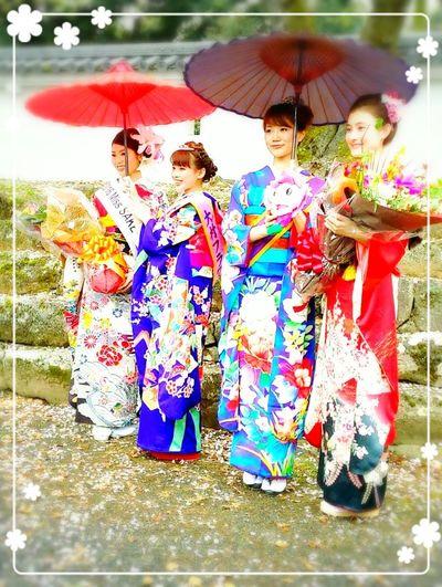 Nagasaki Japan 桜 長崎おおむら お花見 大村公園 とってもかゎいいミスちゃんたち(*´˘`*)♡