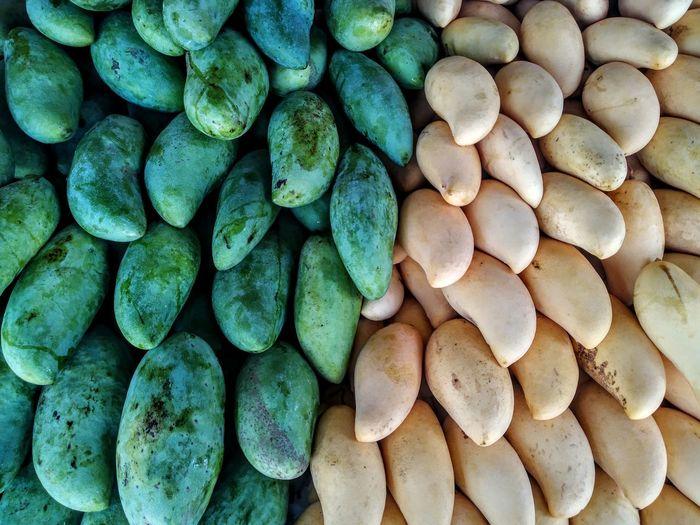 Fruits Mango Mangofruit Backgrounds Full Frame Stack Close-up