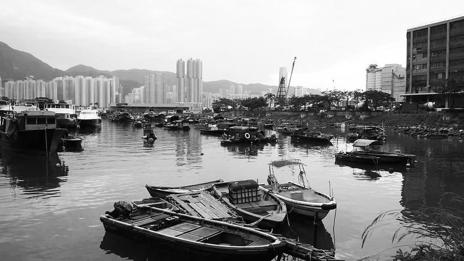 Blackandwhitephotography Blackandwhite Photography Black And White Photography Black & White Blackandwhite Blackwhite HongKong Boat Water