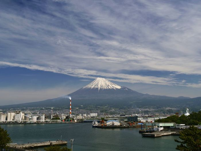 Sky And Clouds Simple Quiet Love EyeEm Best Shots Japan Shizuoka LEICA DG VARIO-ELMARIT 12-60 Lumix G9 Scenics Tranquil Scene Tranquility My Best Photo Still Life Cityscape Beauty In Nature Nature Outdoors Day Built Structure Sea And Sky Mountain 富士山 Mt.Fuji
