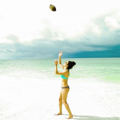 Enjoying Life Enjoying The Sun Marco Island Coconut Toss on the beach