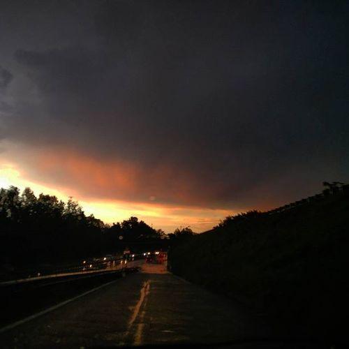 Nofilter Igerspadova Ig_padua Sunset Tramonto Storm Temporale Arcobaleno  Rain Rainbow