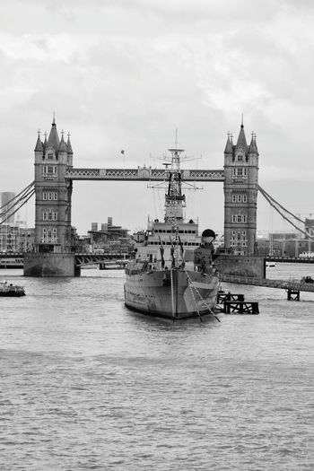 City Nautical Vessel Water Clock Tower Suspension Bridge Bridge - Man Made Structure Cityscape River Urban Skyline Cultures