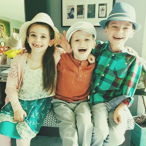 Kids Siblings ♡ Easter Ready Styling Laughter Easter Bonnet