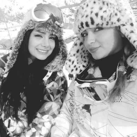 That's Me Friends Having Fun Skiing