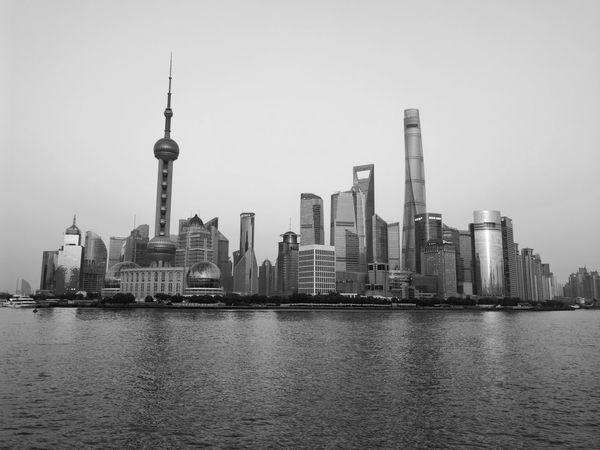 Famous Places Travel The Week Of Eyeem Travel Photography The Bund Shanghai China Photos Travel Destinations My Point Of View Blackandwhite Black And White Welcome To Black
