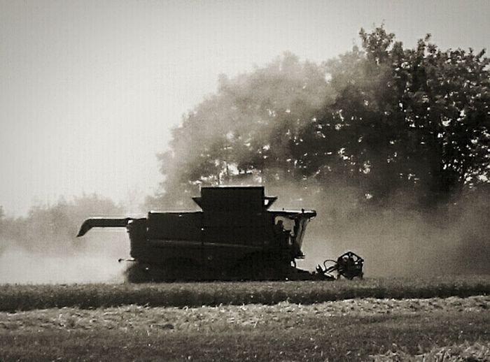 Blackandwhite Photography Black And White Photography Black & White Black And White Collection  Combine Harvester Non-urban Scene Harvesting Mobilephotography Taking Photos